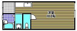 喜田ハイツ[1階]の間取り