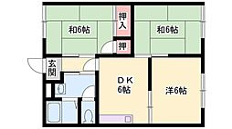 ドミール中島B棟[203号室]の間取り
