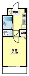 愛知県みよし市黒笹1丁目の賃貸マンションの間取り