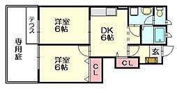 ネクサスONE[1階]の間取り