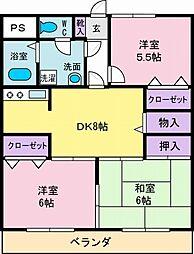 メゾンジョイ[4階]の間取り