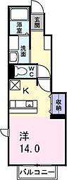 ウル− アンジュⅠ[1階]の間取り