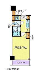 グランド・ガーラ新横浜North[603号室]の間取り
