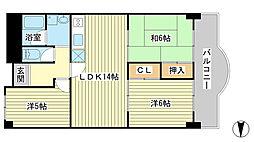 Kプラザ[209号室]の間取り