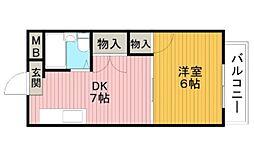 ロイヤルパレス桜の町[3階]の間取り