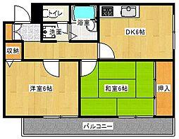 Osaka Metro谷町線 守口駅 徒歩5分の賃貸マンション 7階2DKの間取り
