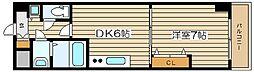 ノルデンタワー天神橋[6階]の間取り