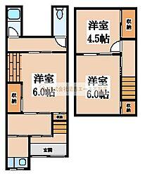 [テラスハウス] 大阪府堺市堺区香ヶ丘町4丁 の賃貸【/】の間取り