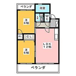 センチュリーハイツ21[3階]の間取り