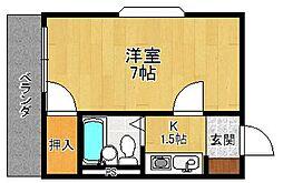 クオーレ塚口[2階]の間取り