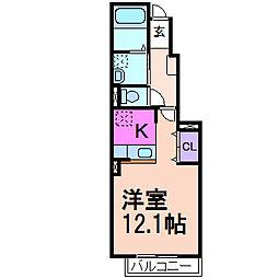 アンジュ・カルムA棟[1階]の間取り