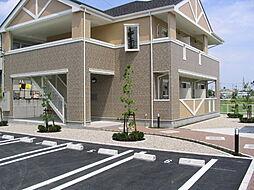 愛知県岡崎市橋目町字柳ケ坪の賃貸アパートの外観