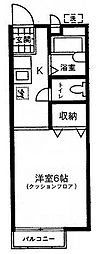 東京都板橋区常盤台4丁目の賃貸アパートの間取り