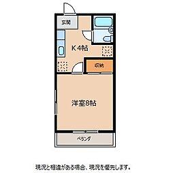 長野県駒ヶ根市飯坂の賃貸マンションの間取り