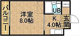 静岡県掛川市亀の甲1丁目の賃貸アパートの間取り