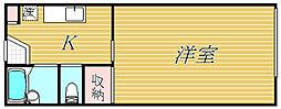 東京都渋谷区上原1丁目の賃貸アパートの間取り