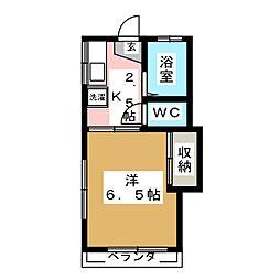 アーバンハイツ桜ヶ丘[2階]の間取り