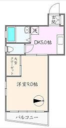 桜井マンション[301号室]の間取り