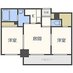 北海道札幌市中央区北六条西16丁目の賃貸マンションの間取り