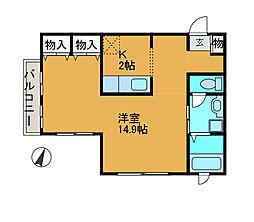 シャルム2[1階]の間取り