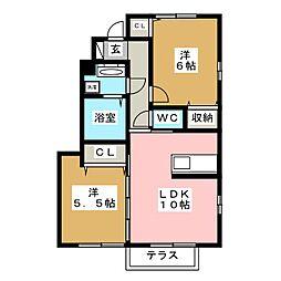 ファクトールB[1階]の間取り