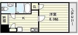 大阪府大阪市生野区勝山北3丁目の賃貸マンションの間取り