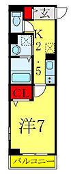 東京メトロ南北線 西ヶ原駅 徒歩9分の賃貸マンション 1階1Kの間取り