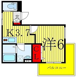 JR京浜東北・根岸線 赤羽駅 徒歩8分の賃貸マンション 3階1Kの間取り