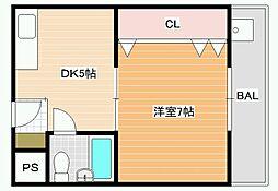 ネオシティ藤井寺[2階]の間取り