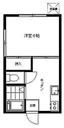 石川ハウス[101号室号室]の間取り