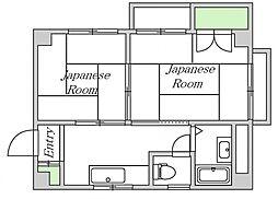 大阪府大阪市東成区東今里3丁目の賃貸マンションの間取り