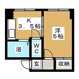 アーサービル[2階]の間取り