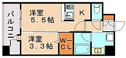 エンクレスト博多駅東II[11階]の間取り