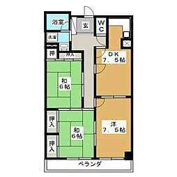 グリーン松坂[3階]の間取り