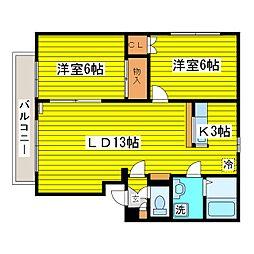 富士マンション[203号室]の間取り