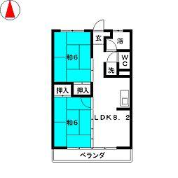 福永コーポ[3階]の間取り