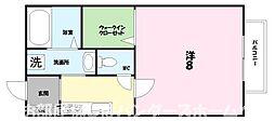 大阪府枚方市春日元町2丁目の賃貸アパートの間取り