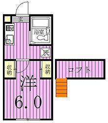 ジュネパレス松戸第141-B[106号室]の間取り