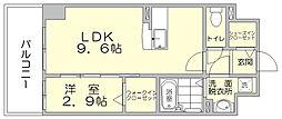 パークサイド博多駅東[6階]の間取り