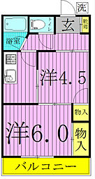 SUNRISE KASHIWA〜サンライズ柏〜[103号室]の間取り