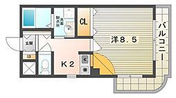 ルピナスII[4階]の間取り
