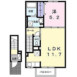 小田急江ノ島線 湘南台駅 バス12分 石川下車 徒歩2分の賃貸アパート 2階1LDKの間取り