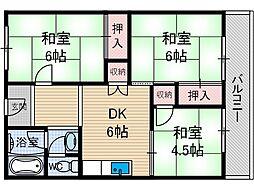 ユーハイツアヤメ[1階]の間取り
