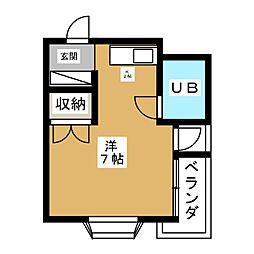 マンション稲垣[5階]の間取り