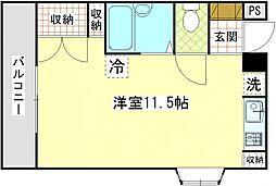 神奈川県横須賀市追浜町1丁目の賃貸マンションの間取り