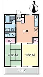 神奈川県藤沢市石川4丁目の賃貸アパートの間取り