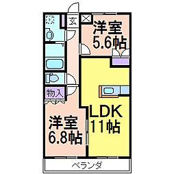 エスポアールS3[1階]の間取り