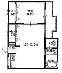 大桂マンション[201号室号室]の間取り