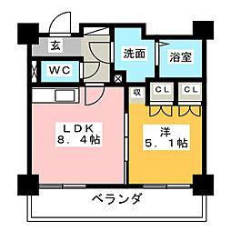 ビジャ松原[7階]の間取り
