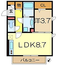 フォンテーヌ南太田[3階]の間取り